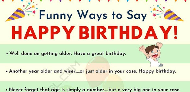 30+ Funniest Happy Birthday Messages